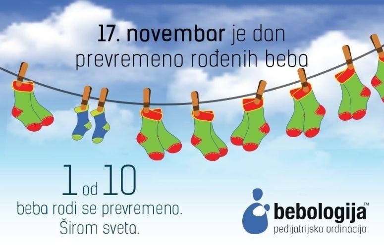 Širom sveta 17. novembra obeležava se dan preveremeno rođenih beba a pedijatrijska ordinacija Bebologija, ove godine se pridružuje aktivnostima tako što će organizvati besplatne pedijatrijske preglede za ove mališane
