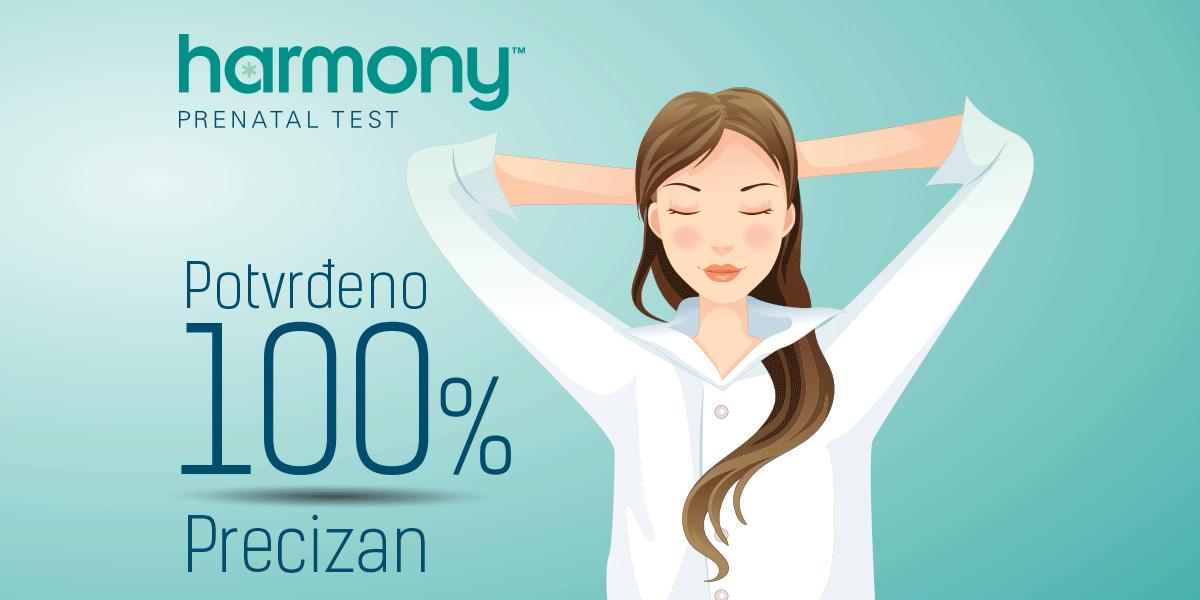 Harmony™ prenatalni test potvrđeno 100% precizan